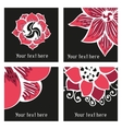 Set of posters with hand drawn tattoo floral vector image vector image