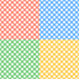 Set of seamless checkered textures