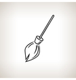 Silhouette broom on a light background vector image vector image