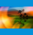 summer background with sea and palm trees vector image vector image