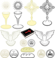 symbols of Christianity vector image