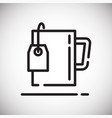 tea bag outline icon on white background for vector image