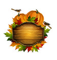 thanksgiving autumn composition vector image