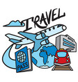travel and resort service vector image vector image