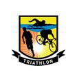 triathlon swim bike run race vector image vector image