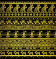 tribal gold borders with mexican texture vector image
