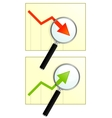Two graph vector image