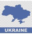 ukraine map on isolated background flat vector image vector image