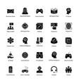 virtual reality glyph icons vector image vector image