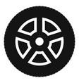 wheel icon simple style vector image vector image