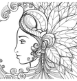 Zentangle woman face vector image vector image