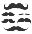 Set of cute mustache vector image