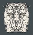 ram skull engraving vector image