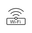 thin line wi-fi wireless icon vector image