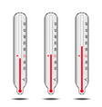 a set of mercury thermometers vector image