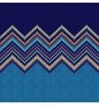 Seamless knitting Christmas pattern vector image