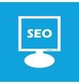 SEO monitor icon vector image