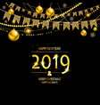 2019 golden new year vector image vector image