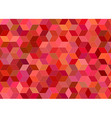 3d cube mosaic background design in red tones vector image vector image