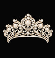 a female wedding diadem crown tiara gold with vector image