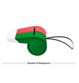 A Whistle of The Republic of Madagascar vector image vector image