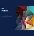 abstract 3d colorful trianglelow polygonal vector image