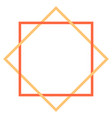 abstract geometric element created using square vector image vector image
