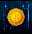 abstract technology bitcoin symbol virtual money vector image