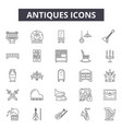 antiques line icons signs set outline vector image vector image