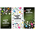 Back To School Banner Set with School Supplies vector image