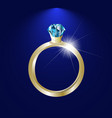 background with gold ring gem image vector image