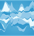 big data visualization streamgraph futuristic vector image vector image