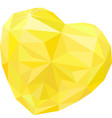 bright heart shape topaz isolated on white vector image