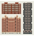 Buildings set with european block houses vector image
