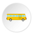 bus icon circle vector image