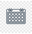 calendar checked concept linear icon isolated on vector image