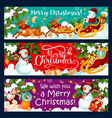 christmas winter holidays greeting banners vector image vector image