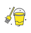 cleaning icon design vector image vector image