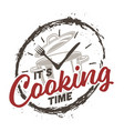 clock and cooking vector image