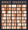 collection bronze metallic gradient brilliant vector image