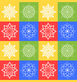 colored seamless pattern of silhouettes of vector image vector image