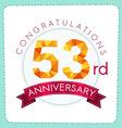 colorful polygonal anniversary logo 3 053 vector image vector image