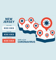 covid19-19 new jersey state usa isometric map vector image
