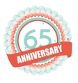 Cute Template 65 Years Anniversary with Balloons vector image vector image