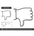 Dislike line icon vector image vector image