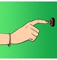doorbell woman hand vector image