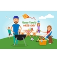 Family picnic Bbq party vector image vector image