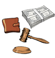 financial objects vector image vector image