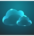 glass two clouds icon Eps10 vector image vector image
