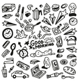 Good morning doodles vector image vector image